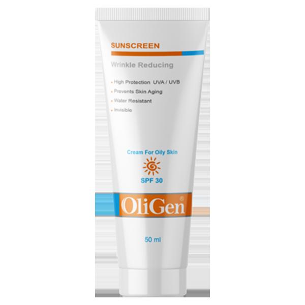 کرم ضد آفتاب و ضد چروک (پوستهای چرب و جوش دار) SPF 30